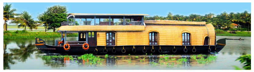 Premium Luxury houseboats in alleppey